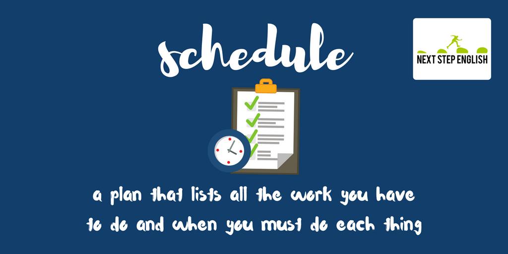 define schedule