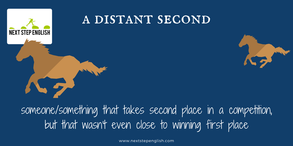 define distant second