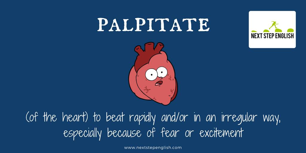 define palpitate