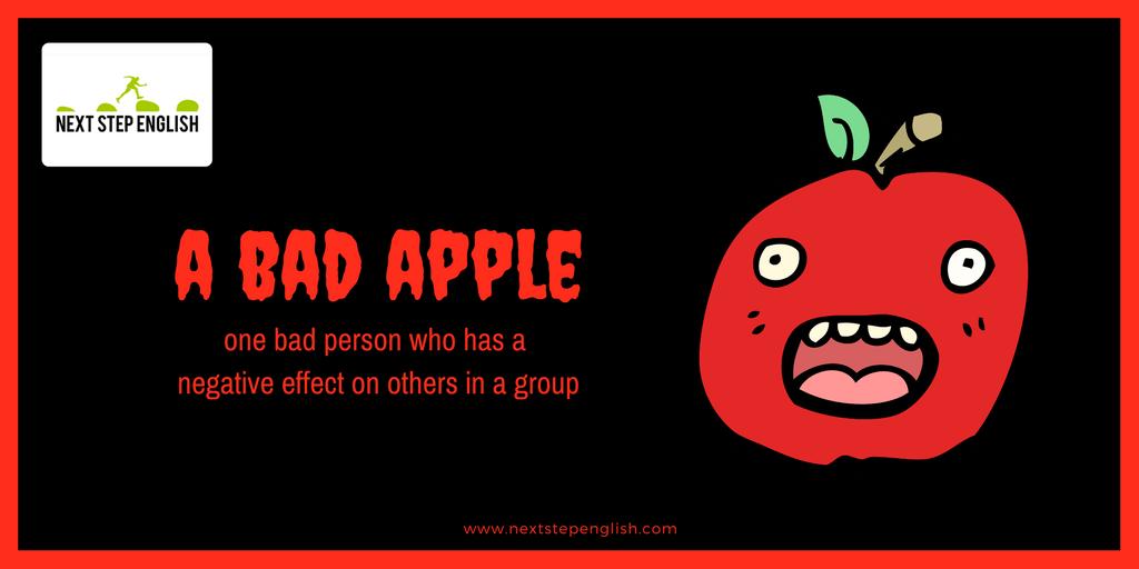 English idiom bad apple