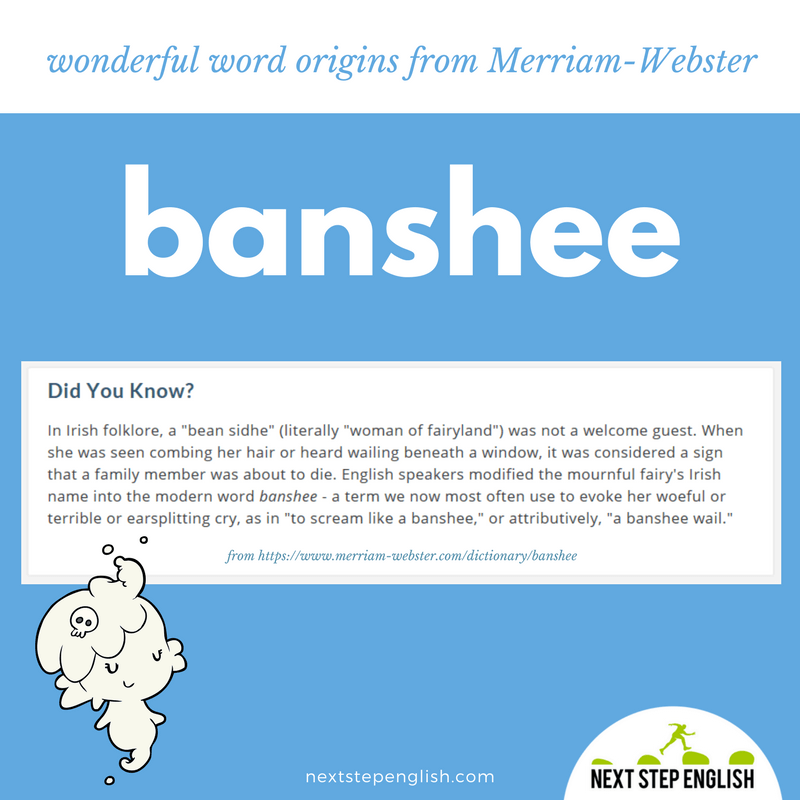 banshee-word-origin-etymology-fun-English-Next-Step-English
