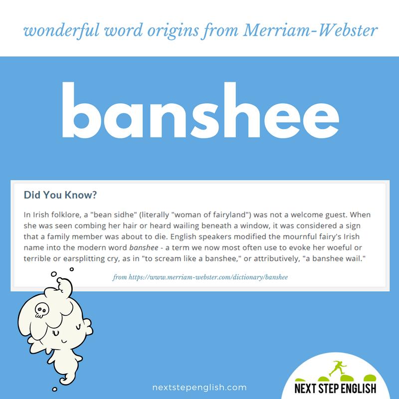 banshee-word-origin-etymology-fun-English-Next-Step-English