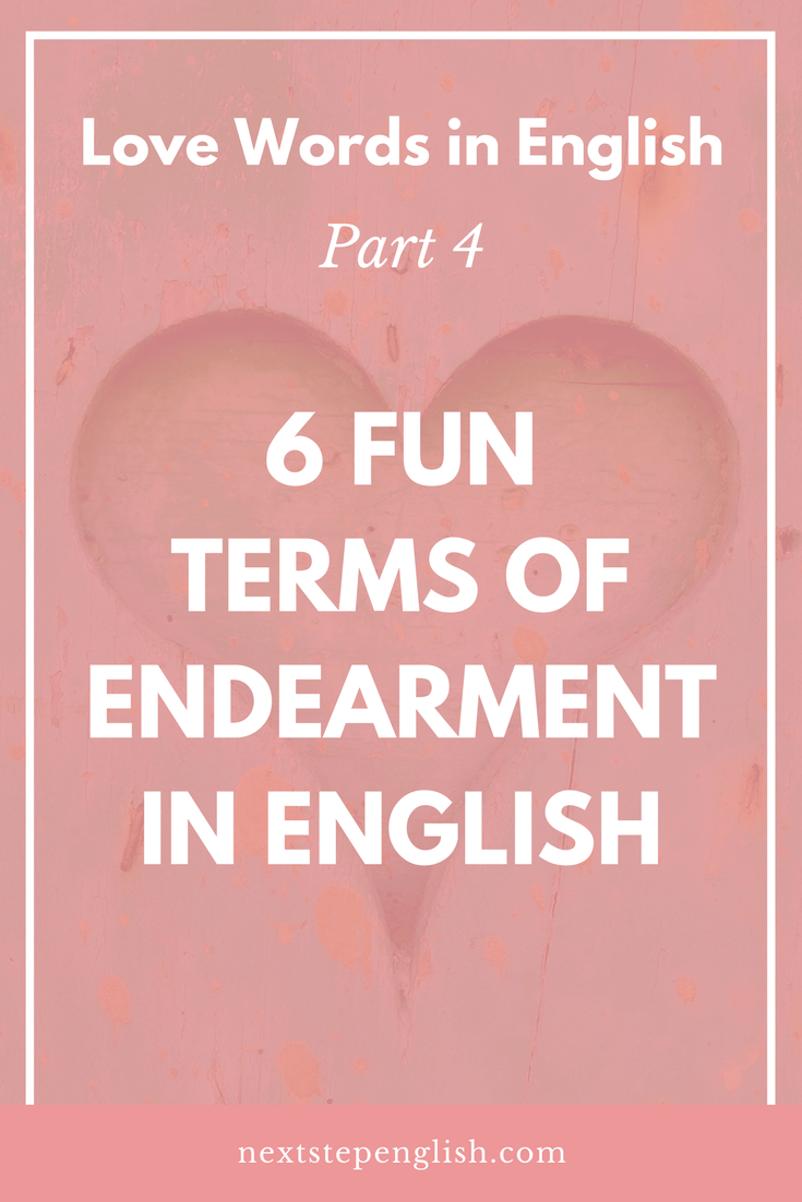 Unique terms of endearment for couples