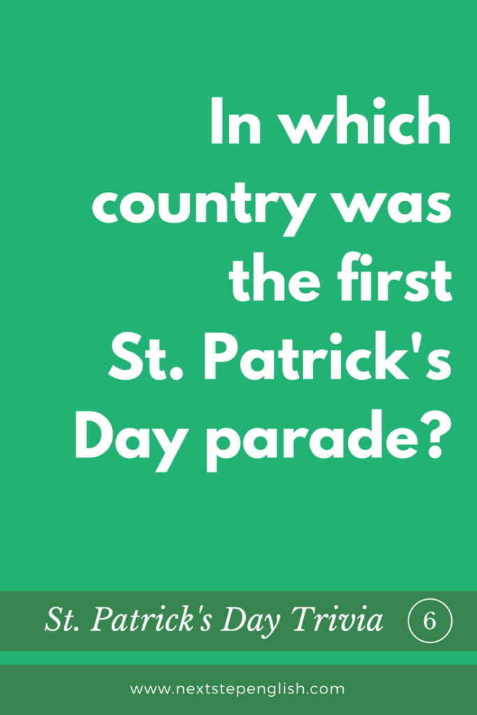 St-Patrick's-Day-Trivia-Quiz-6-first-parade-Next-Step-English