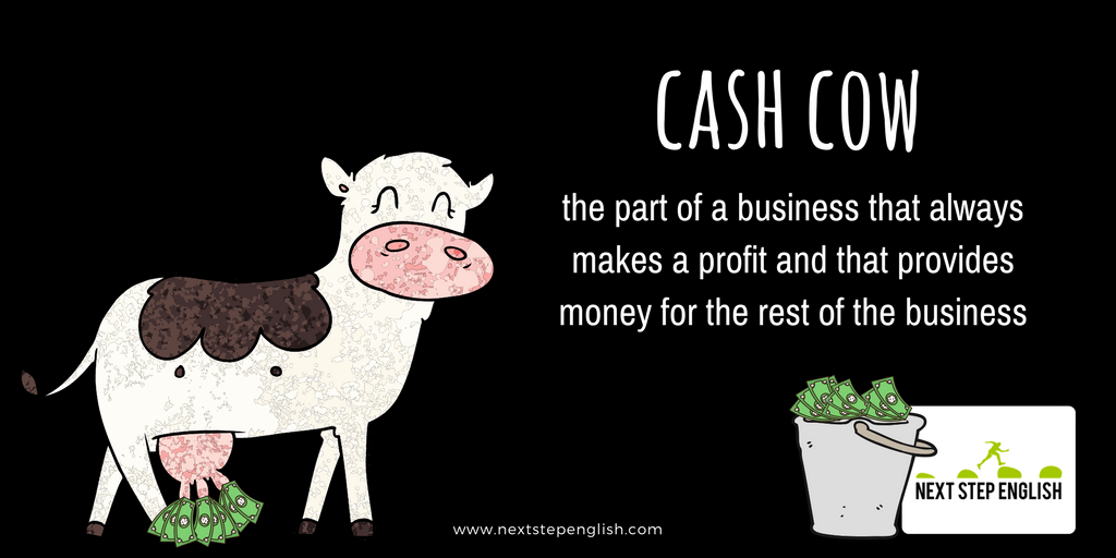 money-idioms-with-sentences-popular-idioms-cash-cow-Next-Step-English