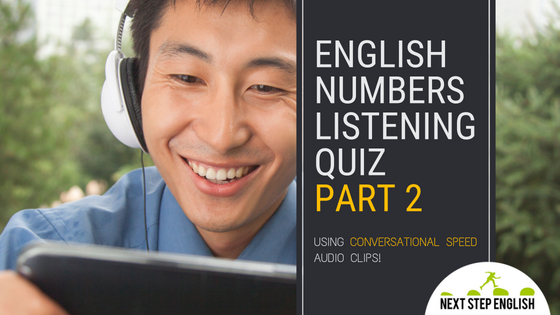 English Numbers Listening Quiz, Part 2