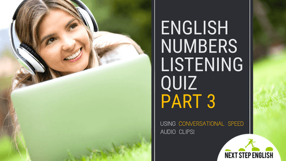 English Numbers Listening Quiz, Part 3
