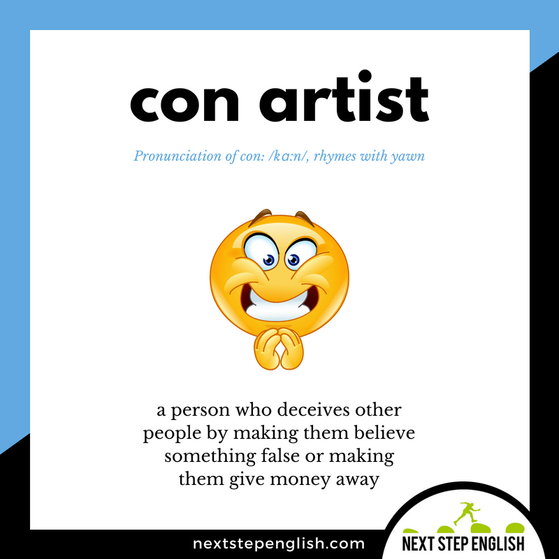 English-vocabulary-define-CON-ARTIST-meaning-Next-Step-English