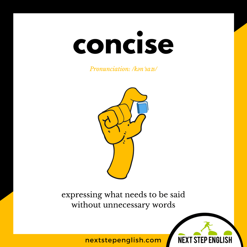 English-vocabulary-define-CONCISE-meaning-Next-Step-English