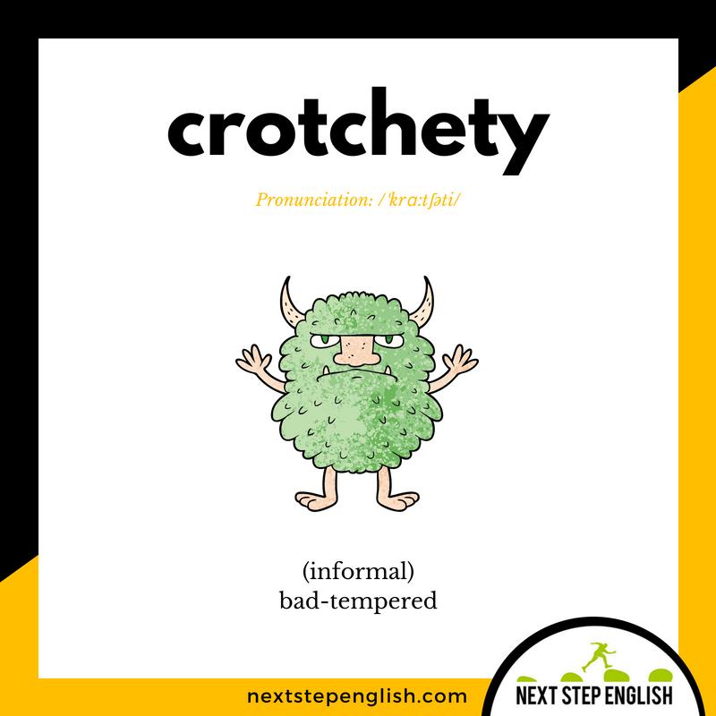 English-vocabulary-define-CROTCHETY-meaning-Next-Step-English