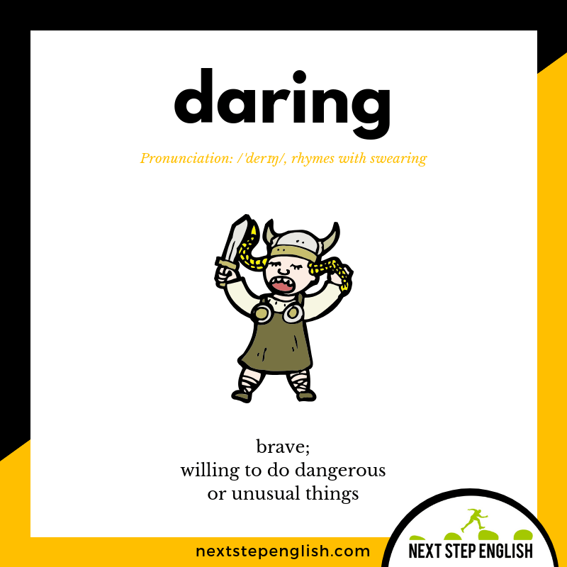 English-vocabulary-define-DARING-meaning-Next-Step-English