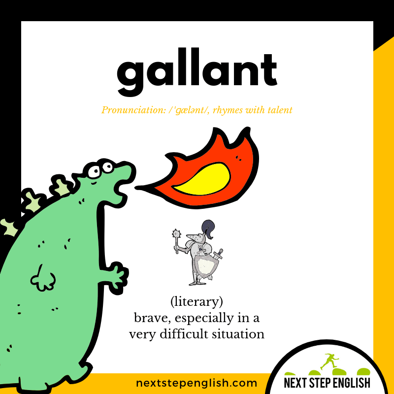English-vocabulary-define-GALLANT-meaning-Next-Step-English