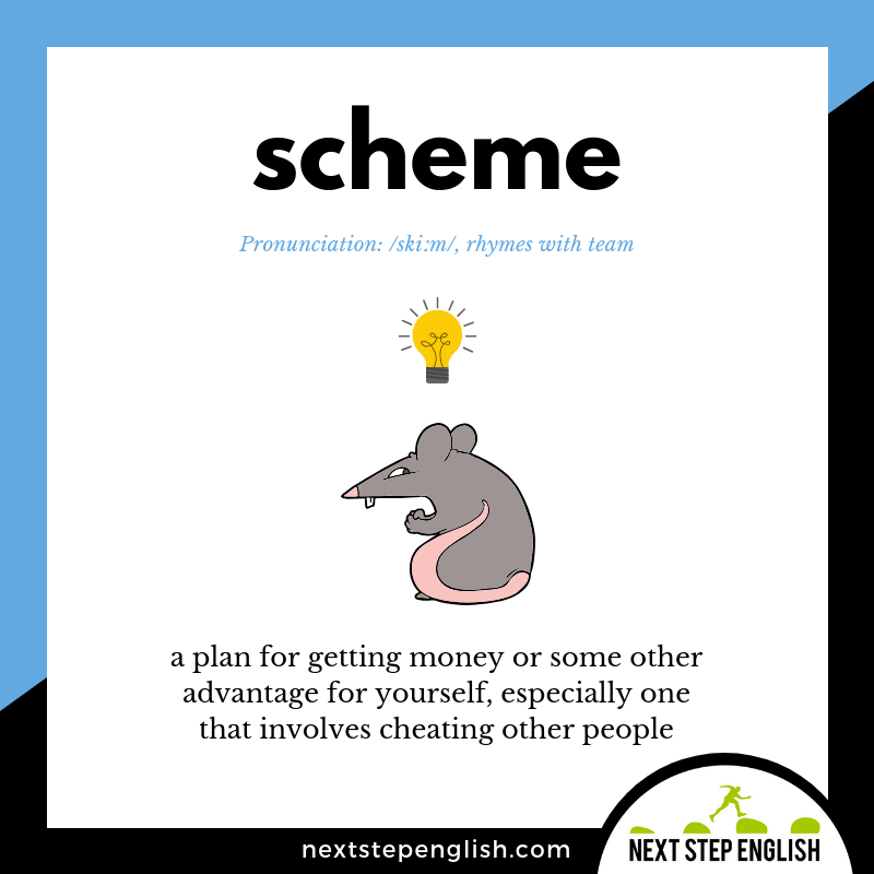 English-vocabulary-define-SCHEME-meaning-Next-Step-English