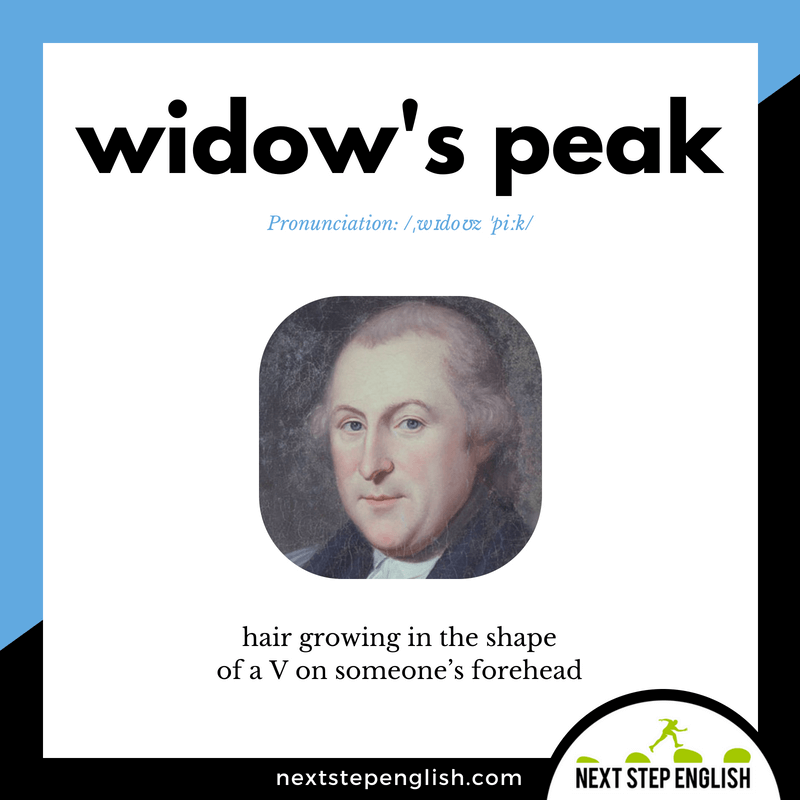 English-vocabulary-define-WIDOW'S-PEAK-meaning-Next-Step-English