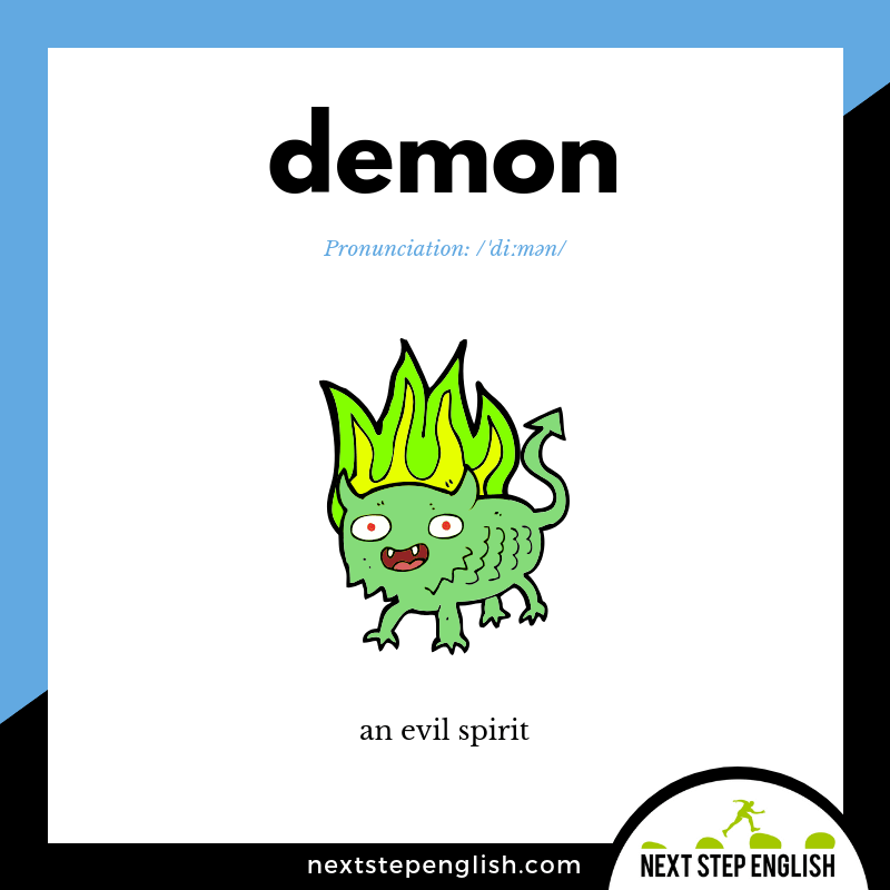 learn-English-listening-vocabulary-define-DEMON-meaning-Next-Step-English