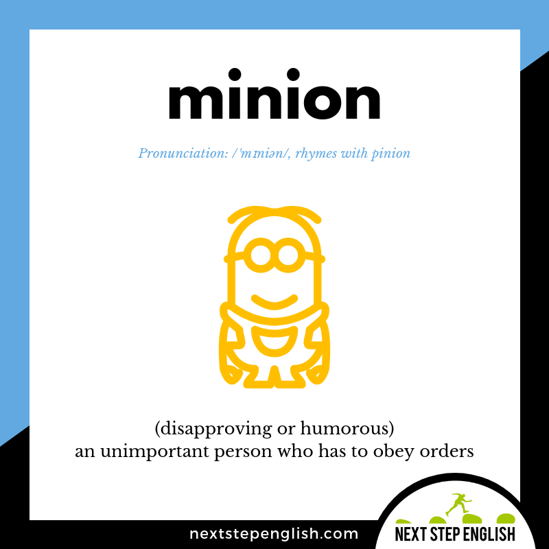 learn-English-listening-vocabulary-define-MINION-meaning-Next-Step-English