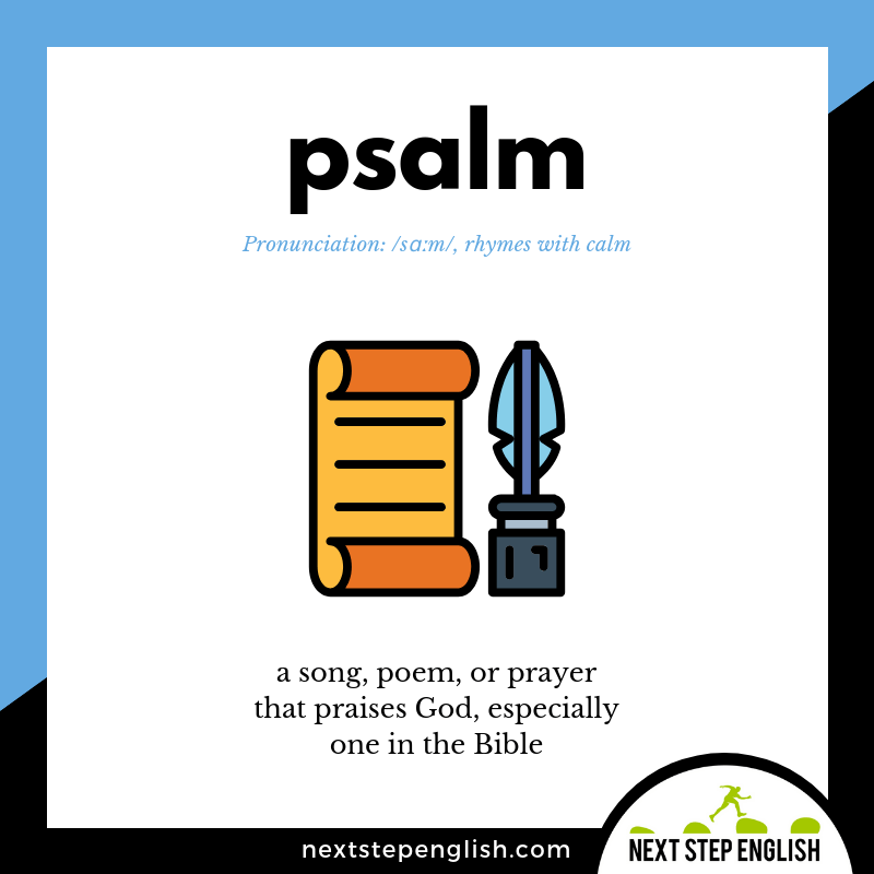 learn-English-listening-vocabulary-define-PSALM-meaning-Next-Step-English