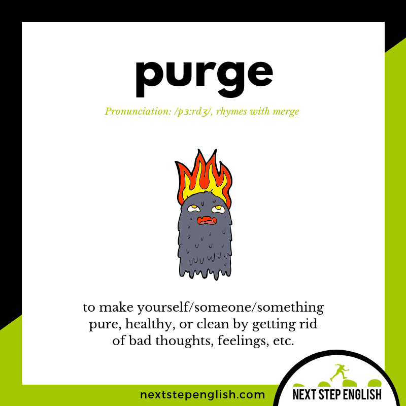 learn-English-listening-vocabulary-define-PURGE-meaning-Next-Step-English