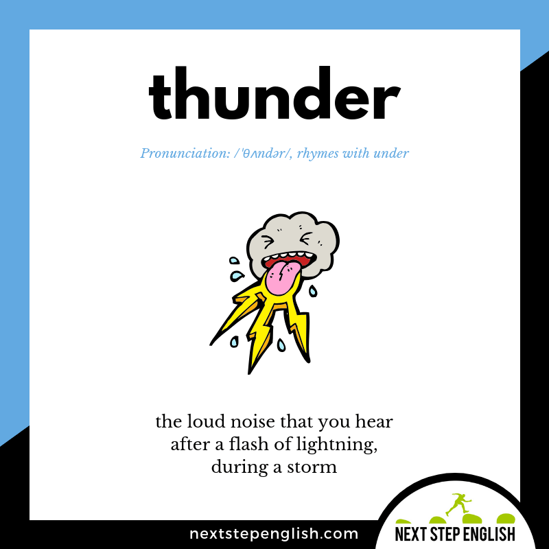 learn-English-listening-vocabulary-define-THUNDER-meaning-Next-Step-English