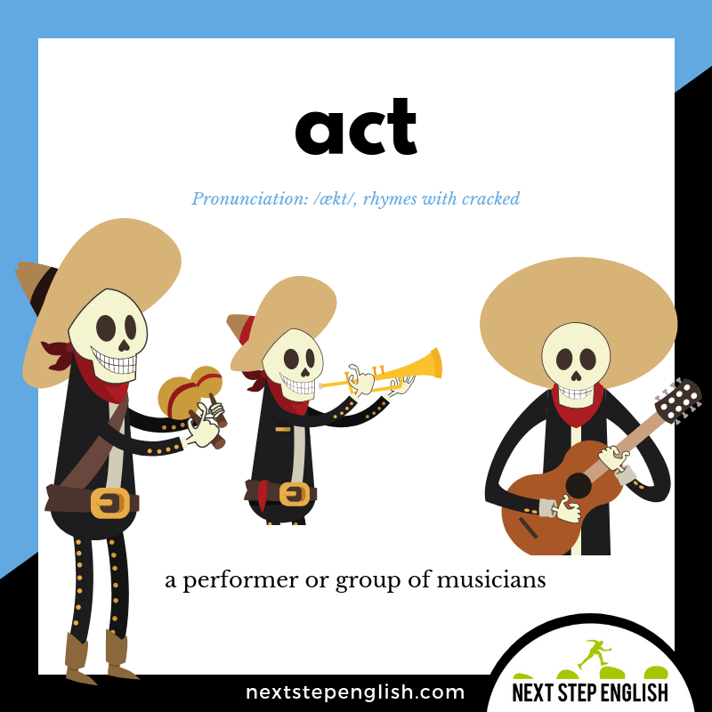 define-ACT-meaning-Next-Step-English-Vocabulary-with-music