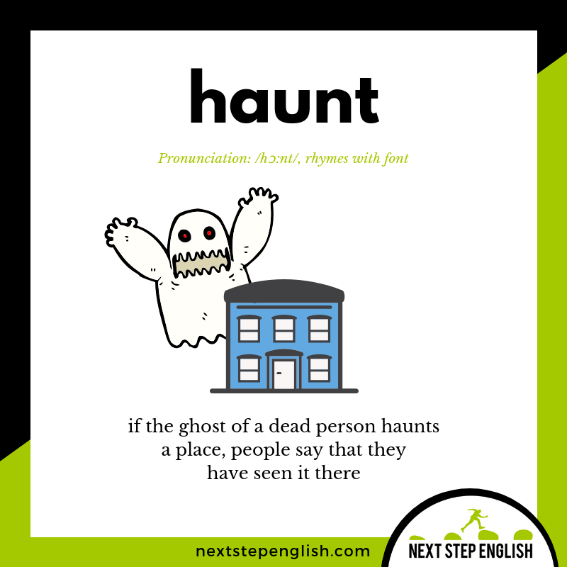 define-HAUNT-meaning-Next-Step-English-Halloween-Words-Dictations