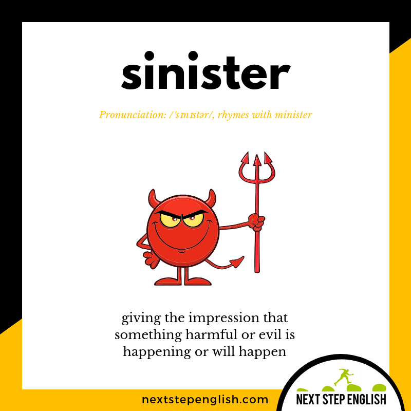 define-SINISTER-meaning-Next-Step-English-Halloween-Words-Dictations