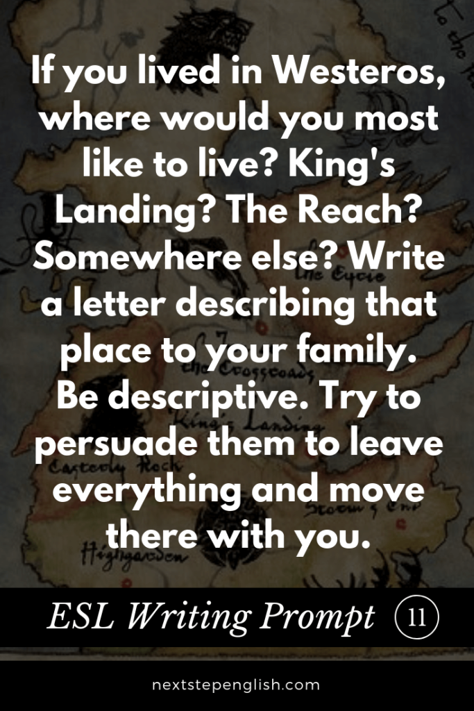 ESL-Writing-Prompt-11-Game-of-Thrones-Next-Step-English-creativity