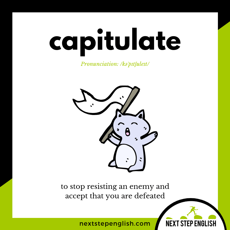 define-CAPITULATE-meaning-Next-Step-English-vocabulary-star-spangled-banner