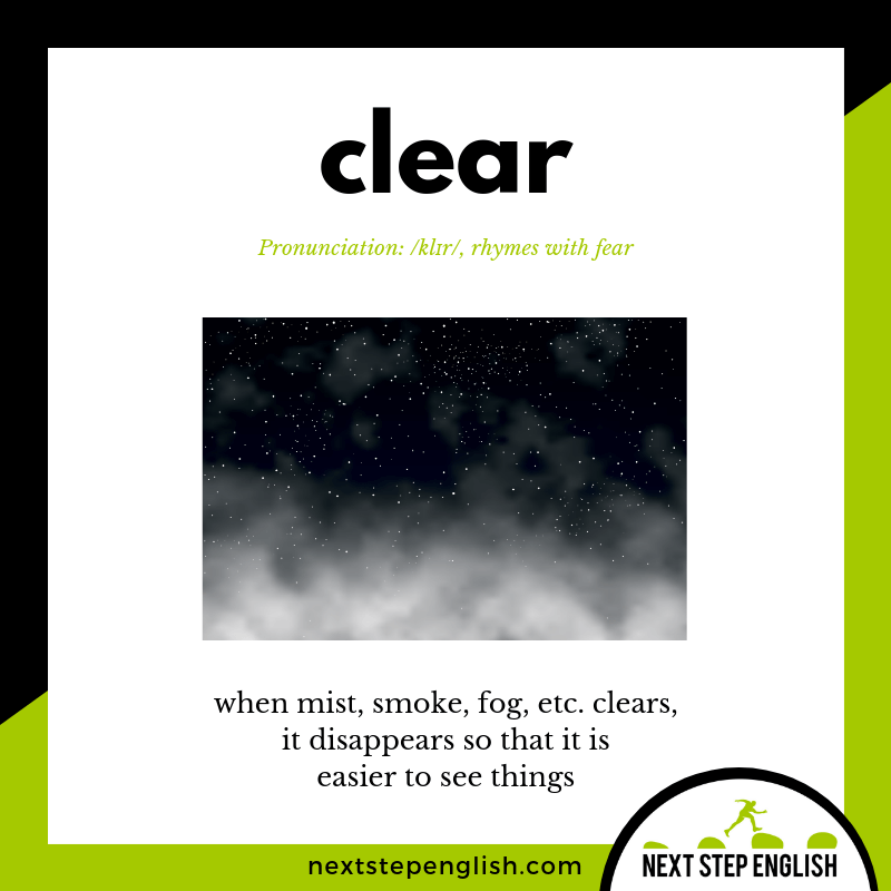 define-CLEAR-meaning-Next-Step-English-vocabulary-star-spangled-banner