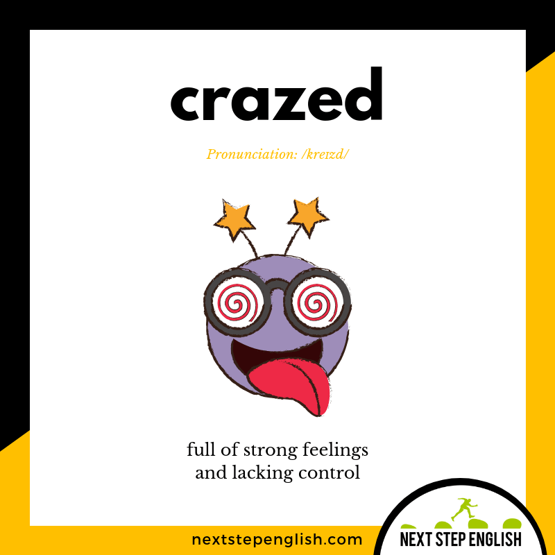 define-CRAZED-meaning-Next-Step-English-vocabulary