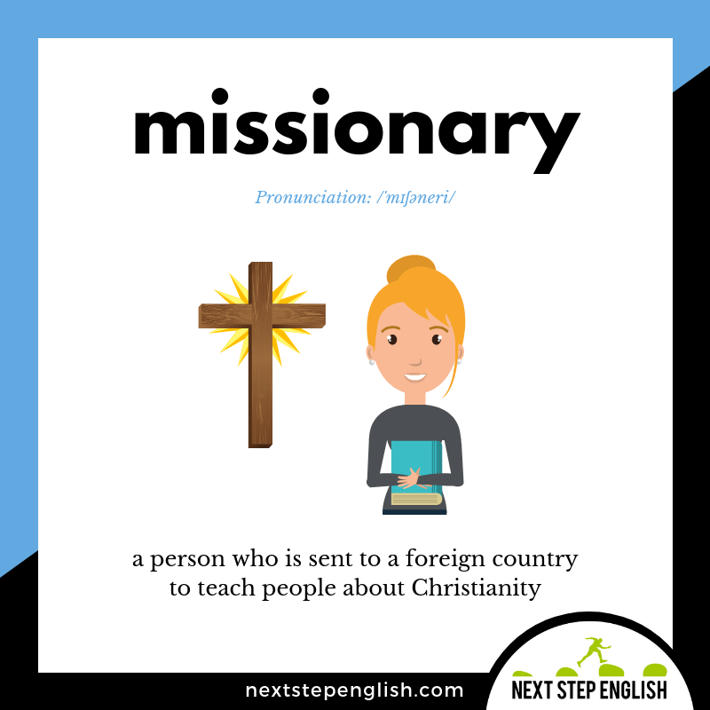 define-MISSIONARY-meaning-Next-Step-English-vocabulary