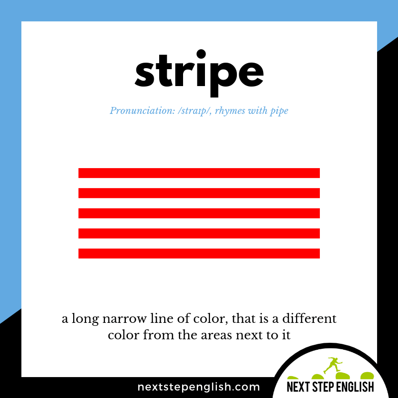 define-STRIPE-meaning-Next-Step-English-vocabulary-star-spangled-banner
