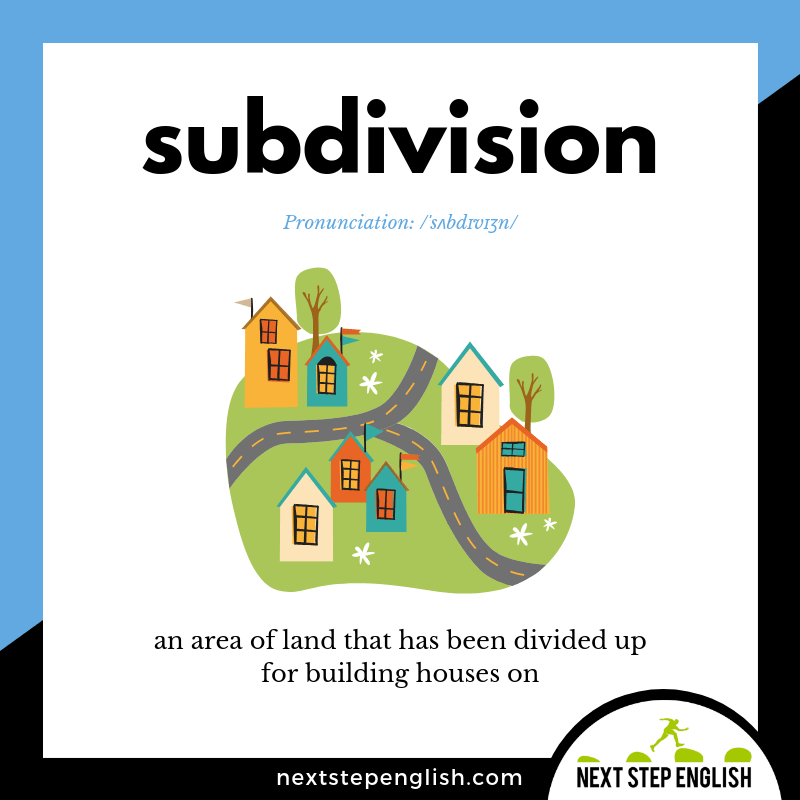 define-SUBDIVISION-meaning-Next-Step-English-vocabulary