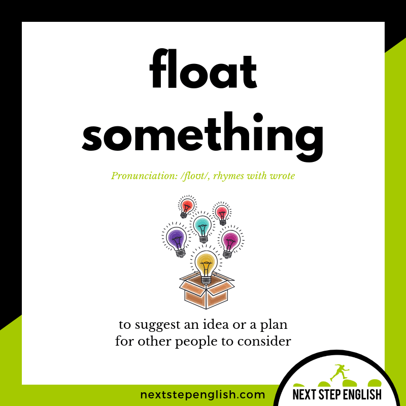 FLOAT Meaning (Next Step English Visual Vocabulary Card)