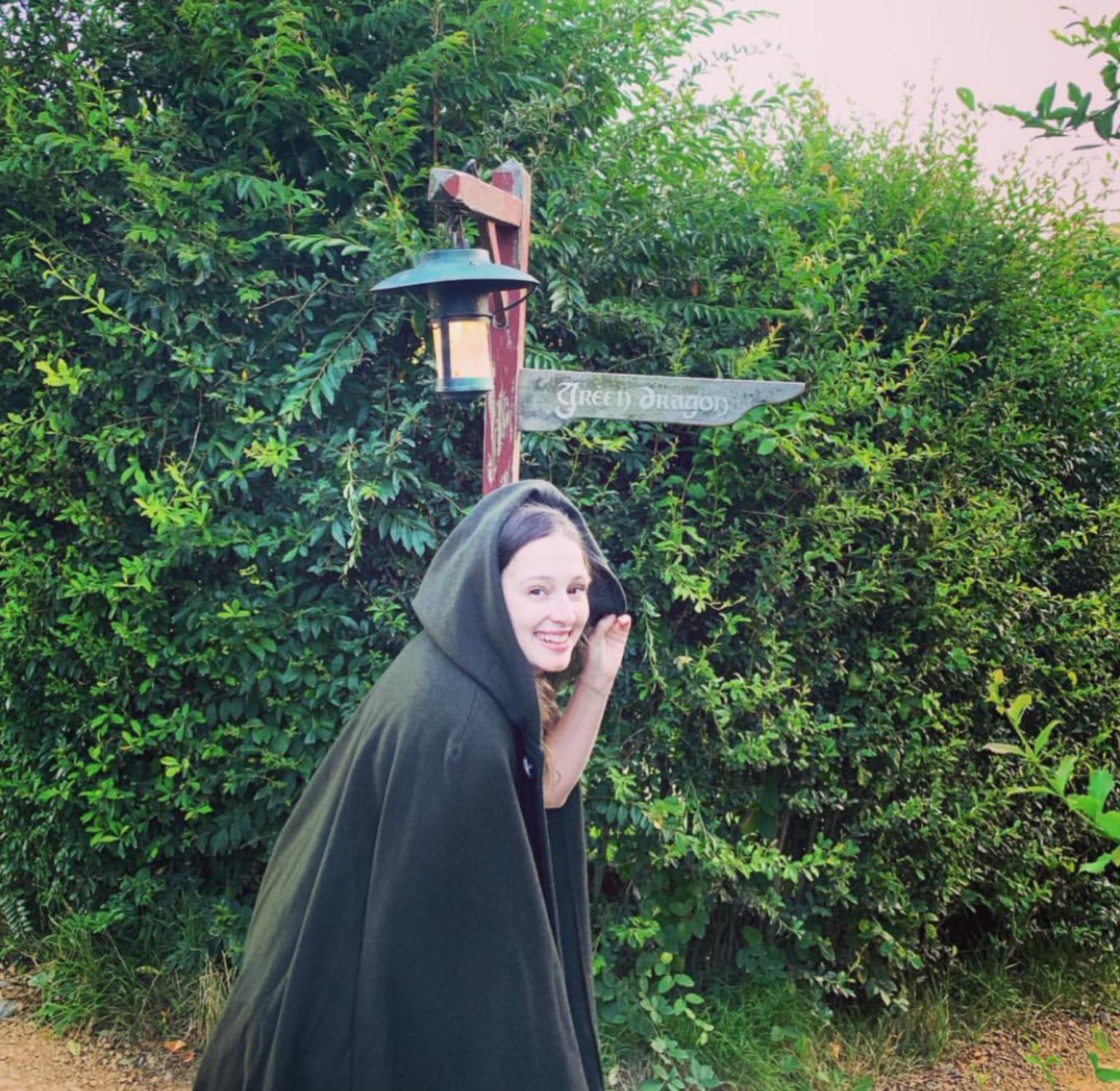 Jennifer of Next Step English in her cloak :)